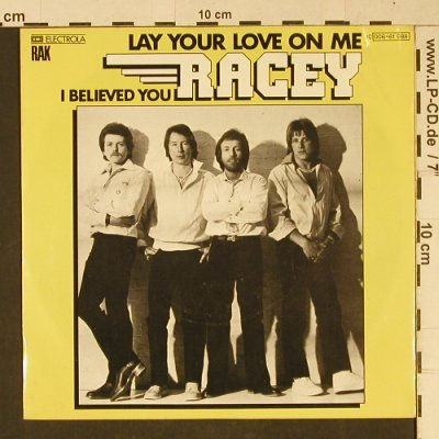 Racey: Lay Your Love On Me, RAK(006-61 988), D, 1978 - 7inch - T1072 - 2,50 Euro