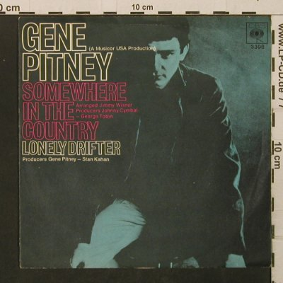 Pitney,Gene: SomewhereInTheCountry/LonelyDrifter, CBS(3398), D,vg+/vg+,  - 7inch - T2803 - 2,00 Euro