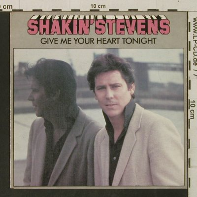 Shakin'Stevens: Give Me Your Heart Tonight/Thinkin', Epic(A2656), NL, 1982 - 7inch - T3279 - 2,50 Euro
