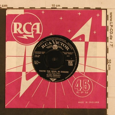 Presley,Elvis: Devil in Disguise/Please don't drag, RCA(RCA 1355), UK,  - 7inch - T4355 - 6,00 Euro