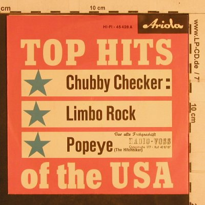 Checker,Chubby: Limbo Rock/Popeye, Ariola(45 428), D, stoc,  - 7inch - T4373 - 3,00 Euro