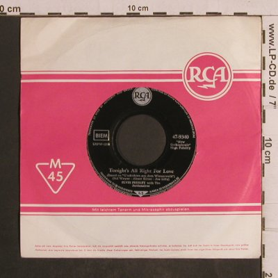 Presley,Elvis: Wooden Heart/Tonight's All Right..., RCA,FLC(47-9340), D,vg+/vg+,  - 7inch - T5015 - 4,00 Euro