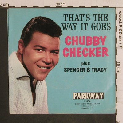 Checker,Chubby: The Fly, vg+/vg+, Parkway(P-830), US,  - 7inch - T5041 - 5,00 Euro