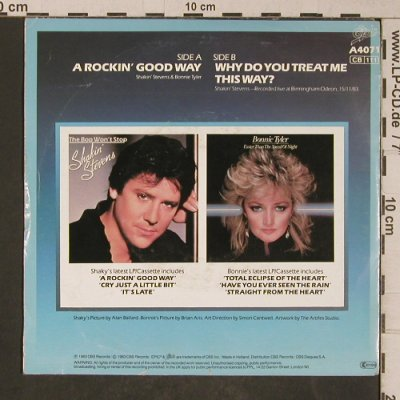 Shakin'Stevens & Tyler,Bonnie: A Rocking Good Way, m-/vg+, Epic(a4071), NL, 1983 - 7inch - T5264 - 2,50 Euro