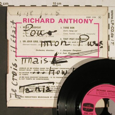 Anthony,Richard: Hello Pussycat, vg+/vg+, woc, Columbia(ESRF 1722), F,  - EP - T824 - 2,50 Euro