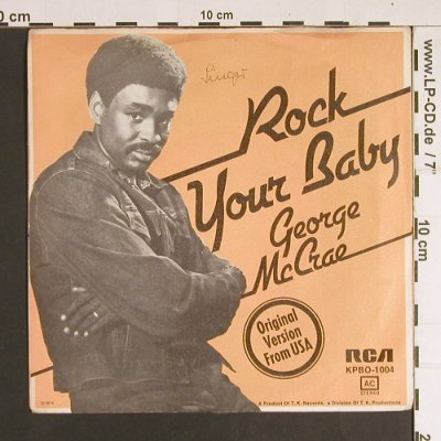 McCrae,George: Rock Your Baby, woc, RCA(KPBO-1004), D, 1974 - 7inch - S7328 - 2,00 Euro