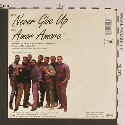 Kool & The Gang: Never give up/Amor Amore, Metronome(873 124-3), D, 1989 - 7inch - S8035 - 3,00 Euro