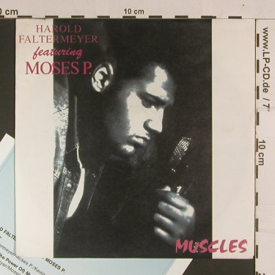 Faltermeyer feat Mose P.: Muscles/spoons Radio Mix, Ariola(113 867), D,m-/vg+, 1990 - 7inch - S8055 - 5,00 Euro
