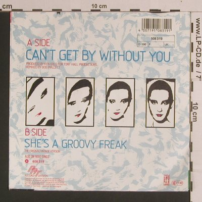 Real Thing,The: Can't Get By Without You / She's A, PRT(108 319), D, co, 1986 - 7inch - S8268 - 2,50 Euro