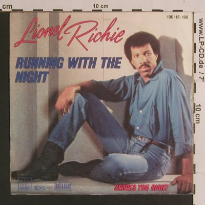 Richie,Lionel: RunningWithTheNight/ ServesYouRight, Motown(100-15-108), D, 1982 - 7inch - S8271 - 2,50 Euro