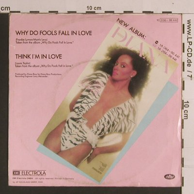 Ross,Diana: Why Do Fools Fall In Love/Think I'm, Capitol(006-86 442), D, m-/vg+, 1981 - 7inch - S8281 - 2,50 Euro