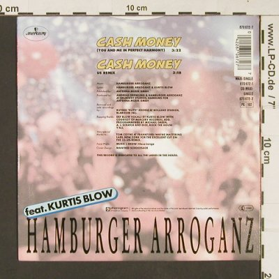 Hamburger Arroganz: Cash*2, feat Kurtis Blow, Mercury(870 672-7), D, 1988 - 7inch - S9003 - 2,50 Euro