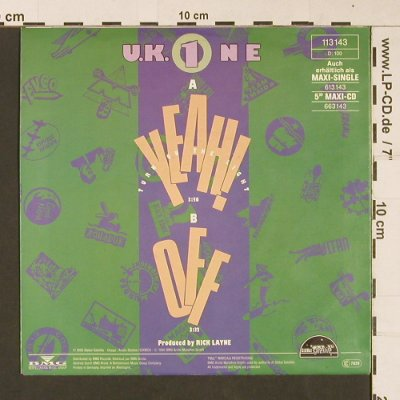 U.K.1  feat. Tia & Chantel: Yeah! Turn on the Lights, Global Satellite(113 143), D, Facts, 1990 - 7inch - S9068 - 2,50 Euro