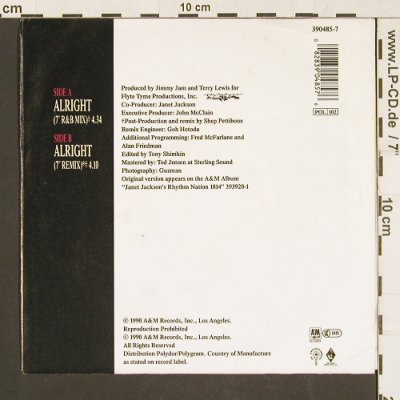 Jackson,Janet: Alright *2, AM(390 485-7), D, 1990 - 7inch - S9553 - 3,00 Euro