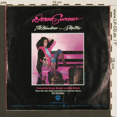 Summer,Donna: The Wanderer / Stop Me, WB(WB 17 692), D, 1980 - 7inch - S9579 - 3,00 Euro