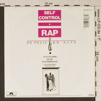 Dr.Felix & MM Band: Self Control/Self Rap/FortuneTeller, Polydor(887 286-7), D, 1987 - 7inch - T1004 - 2,50 Euro