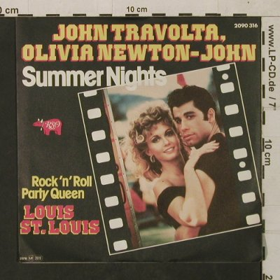 Travolta,John / Olivia Newton-John: Summer Nights/Rock'n'Roll Party Que, RSO(2090 316), D, 1976 - 7inch - T1582 - 3,00 Euro