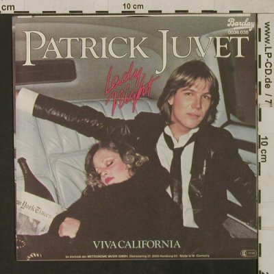 Juvet,Patrick: Lady Night, Barclay(0036.038), D, 1979 - 7inch - T1590 - 2,50 Euro