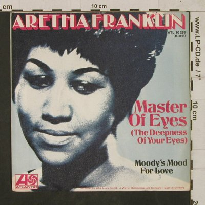 Franklin,Aretha: Master of Eyes/Moody's Mood forLove, Atlantic,Warenprobe(ATL 10 288), D, 1973 - 7inch - T1867 - 7,50 Euro