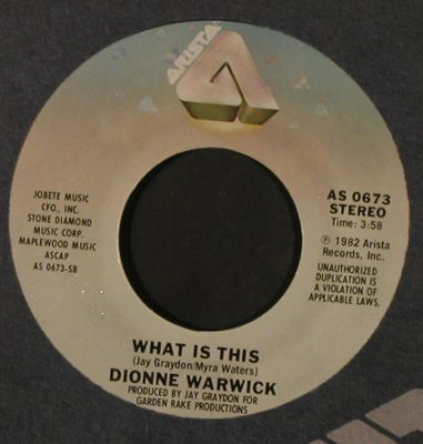 Warwick,Dionne & Mathis,Johnny: Friends In Love/What Is This, FLC, Arista(AS 0673), US, 1982 - 7inch - T2181 - 2,00 Euro
