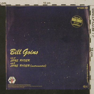 Goins,Bill: Lone Rider / Inst., Baby(107 639), D, 1985 - 7inch - T2427 - 2,50 Euro