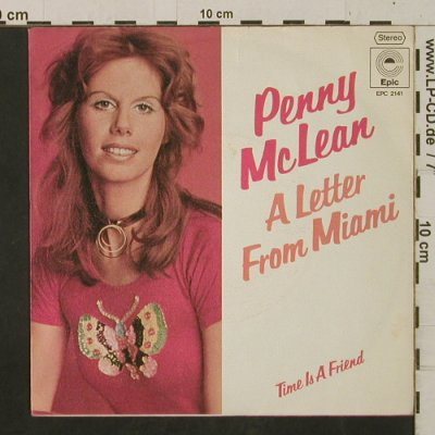 McLean,Penny: Letter From Miami/Time Is A Friend, Epic(EPC 2141), D, 1974 - 7inch - T2431 - 2,50 Euro