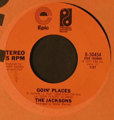 Jacksons: Goin' Places / Do What You Wanna, Epic / Promo-stol(8-50454), US, 1977 - 7inch - T2487 - 7,50 Euro