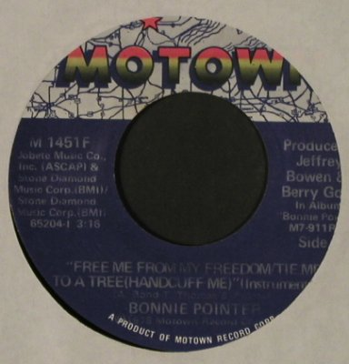 Pointer,Bonnie: Free Me From My Freedom / Inst., Motown(M 1451 F), US, LC, 1978 - 7inch - T2501 - 2,50 Euro