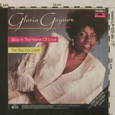 Gaynor,Gloria: Stop In the Name Of Love / For You, Polydor(810 908-7), D, 1982 - 7inch - T2505 - 2,50 Euro