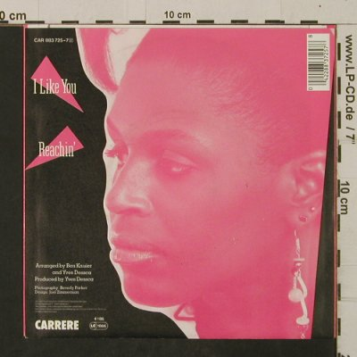 Nelson,Phyllis: I Like You / Reachin', Carrere(CAR 883 725-7), D, 1985 - 7inch - T2527 - 2,00 Euro