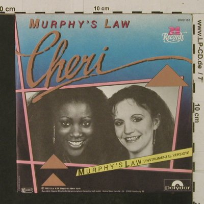 Cheri: Murphy's Law / Inst., Polydor/M Rec.(2002 157), D, 1982 - 7inch - T2532 - 2,50 Euro