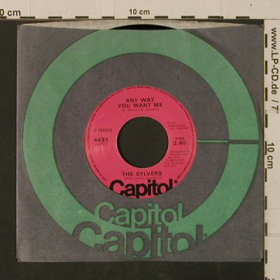 Sylvers: Any Way You Want Me/Lovin' Me Back, Capitol(4493), US, FLC, 1977 - 7inch - T2535 - 2,50 Euro