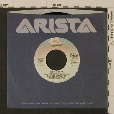 Warwick,Dionne: Got ADate/TwoShipsPassingInTheNight, Arista(AS 1-9146), US, FLC, 1983 - 7inch - T2537 - 2,00 Euro