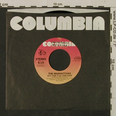 Manhattans: We Never Danced To A Love Song, FLC, Columbia/Promo-stol(3-10586), US, 1977 - 7inch - T2542 - 3,00 Euro
