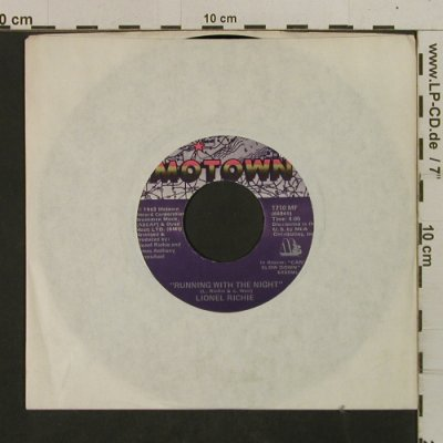 Richie,Lionel: RunningWithTheNight/ServesYouRight, Motown(1710 MF), US, LC, 1982 - 7inch - T2551 - 2,00 Euro