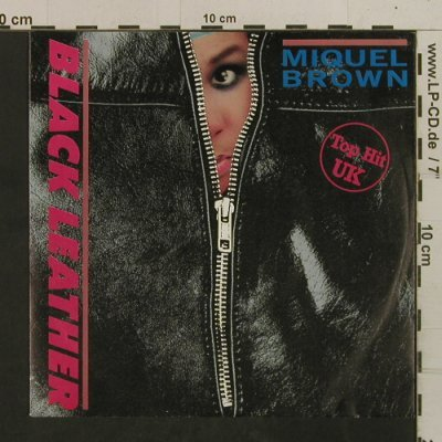 Brown,Miquel: Black Leather / Inst., Ariola(106 932), D, 1984 - 7inch - T2553 - 2,00 Euro