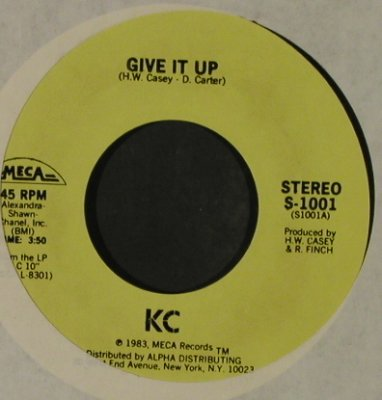 KC: Give It Up / Uptight, LC, Meca(S-1001), US, 1983 - 7inch - T2554 - 4,00 Euro