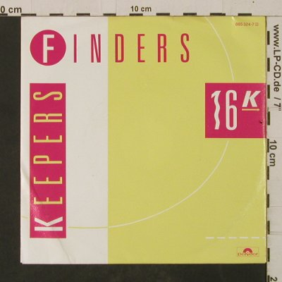 16 K: Finders Keepers / Inst., Polydor(885 324-7), D, 1986 - 7inch - T2560 - 2,00 Euro