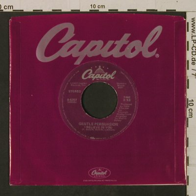 Gentle Persuasion: Please Mr. Postman/I Believe In You, Capitol(B-5207), US, FLC, 1983 - 7inch - T2565 - 3,00 Euro
