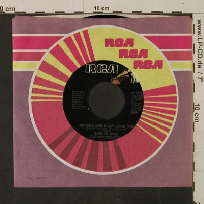 King,Evelyn: Betcha She Don't Love You, RCA(PB-13380), US, FLC, 1982 - 7inch - T2575 - 3,00 Euro