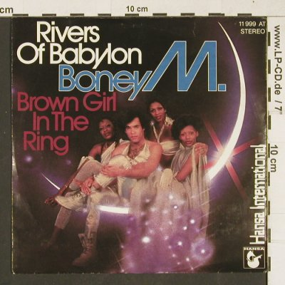 Boney M.: Rivers Of Babylon/Brown Girl In The, Hansa(11 999 AT), D, 1988 - 7inch - T262 - 2,50 Euro