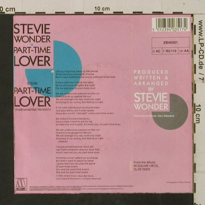 Wonder,Stevie: Part-Time Lover, Motown(), D, 1985 - 7inch - T2635 - 2,50 Euro