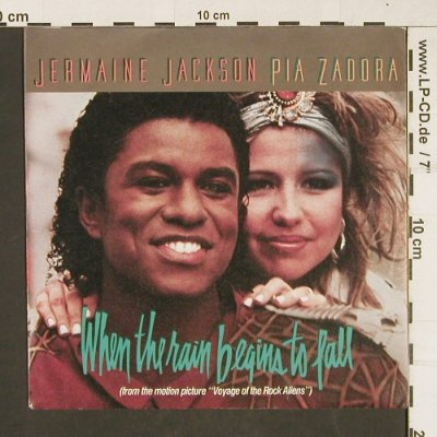 Jackson,Jermaine & Pia Zadora: When The Rain Beginns To Fall/Follo, Arista(106 883), D, 1984 - 7inch - T270 - 2,00 Euro