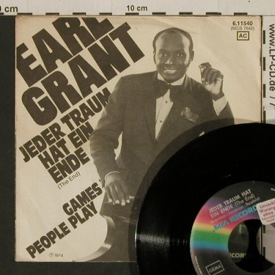Grant,Earl: Jeder Traum hat ein Ende, vg+/vg+, MCA / Promo-stol(6.11540 AC), D, 1974 - 7inch - T2740 - 2,00 Euro