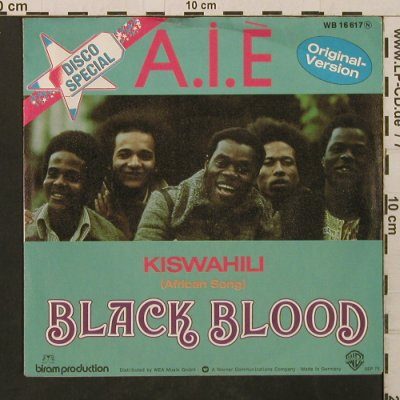 Black Blood: A.I.E. / Kiswahili, WB(WB 16 617), D, 1975 - 7inch - T2853 - 3,00 Euro
