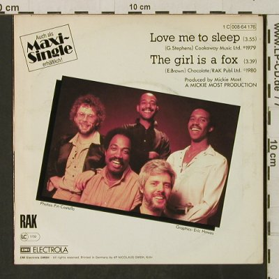Hot Chocolate: Love Me To Sleep/The Girl Is A Fox, RAK(008-64 176), D, 1980 - 7inch - T3143 - 2,50 Euro