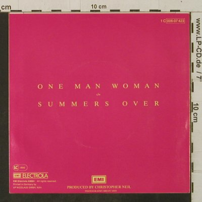 Easton,Sheena: One Man Woman/Summers Over, EMI(006-07 423), D, 1980 - 7inch - T3452 - 2,00 Euro