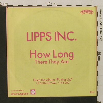 Lipps Inc.: How Long / There They Are, Casablanca(6000 509), D, 1980 - 7inch - T3475 - 2,50 Euro
