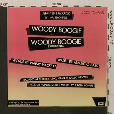 Baltimora: Woody Boogie*2, EMI(11 8727 7), D, 1985 - 7inch - T3478 - 2,00 Euro