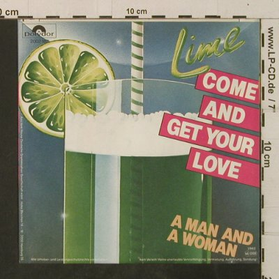 Lime: Come And Get Your Love/A Man And A, Polydor(2002 182), D, 1982 - 7inch - T3509 - 2,50 Euro